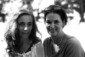 Solveig and her great friend the lovely Dutch actress Saskia Temmink Photographer: Jara Lucieer